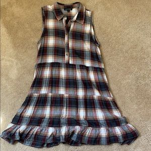 Plaid Tunic Dress Top